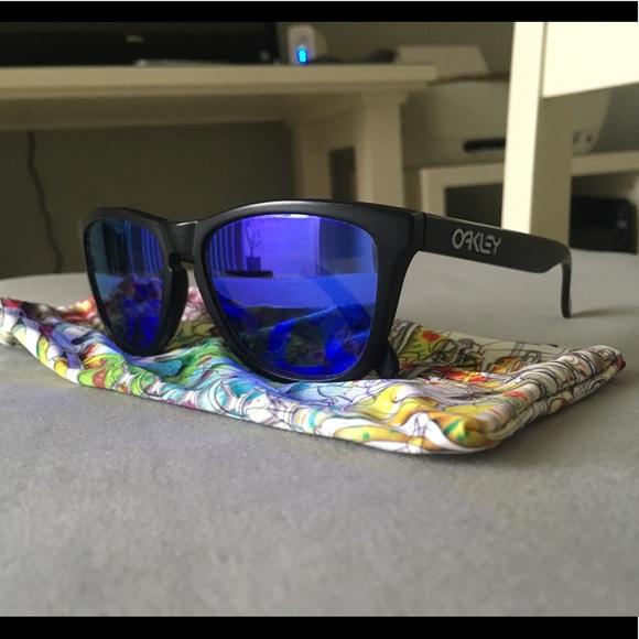2d5ef4074c Oakley Accessories - Oakley Custom Frogskins - Matte Black Violet